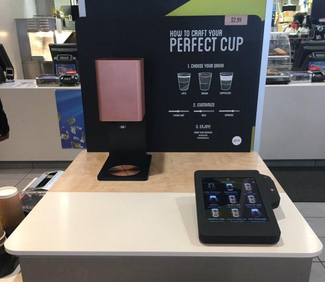 Coffee Kiosk McDonalds Self Service