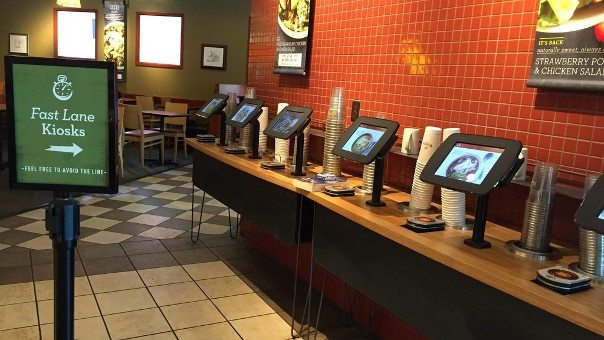 Panera tablet kiosk