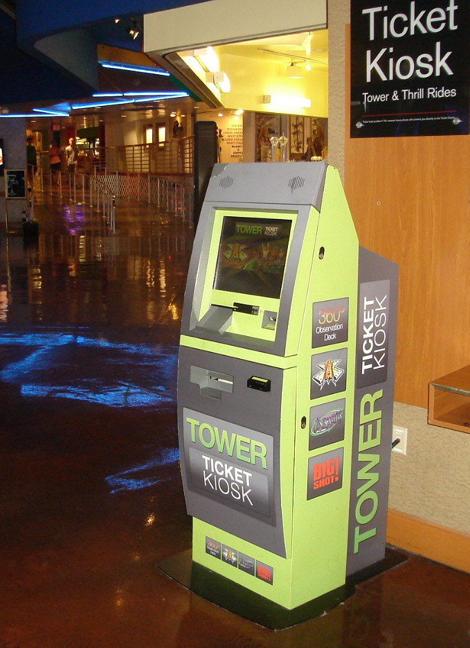Stratosphere ticketing kiosk